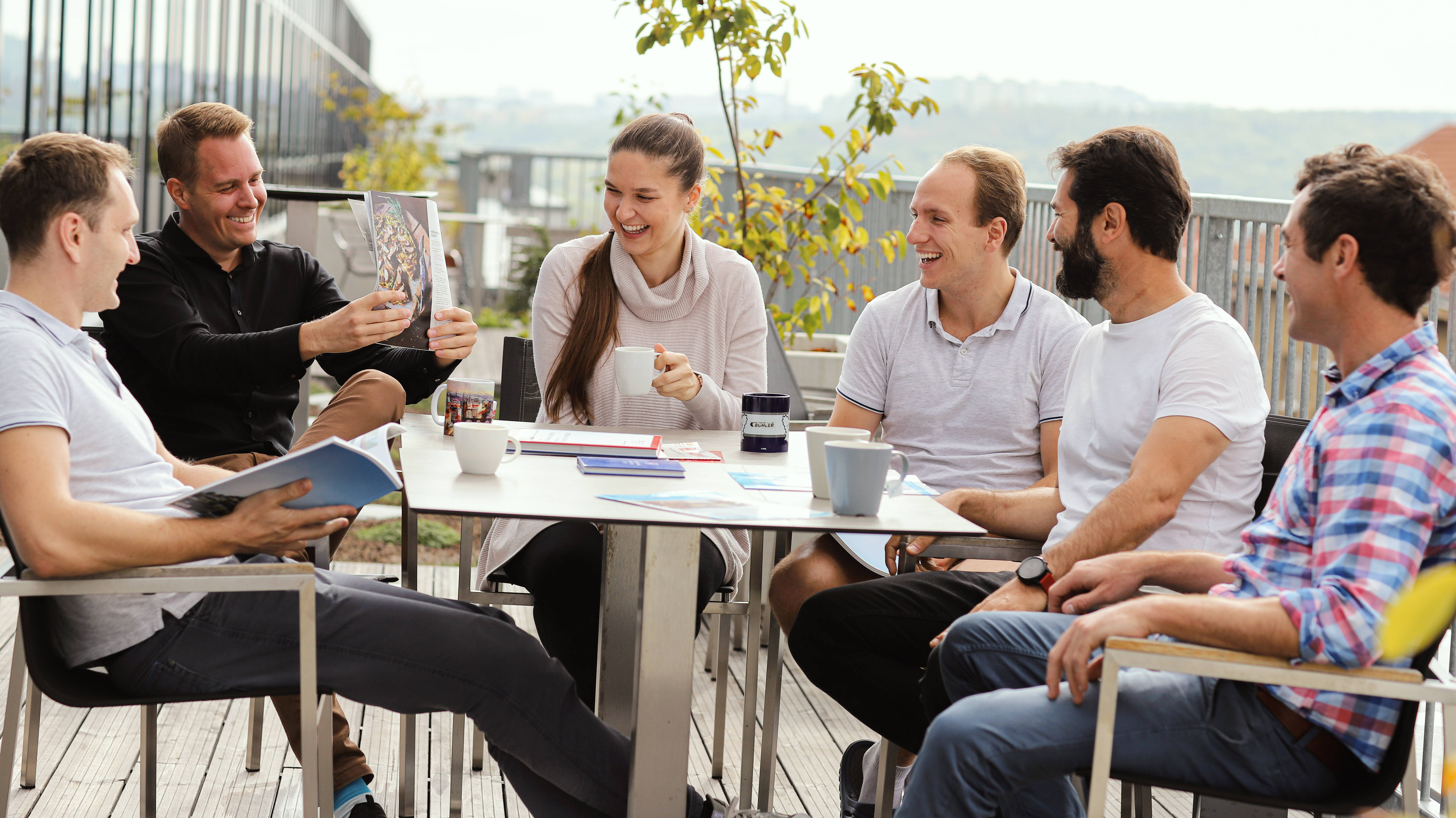 Coffee on terrace