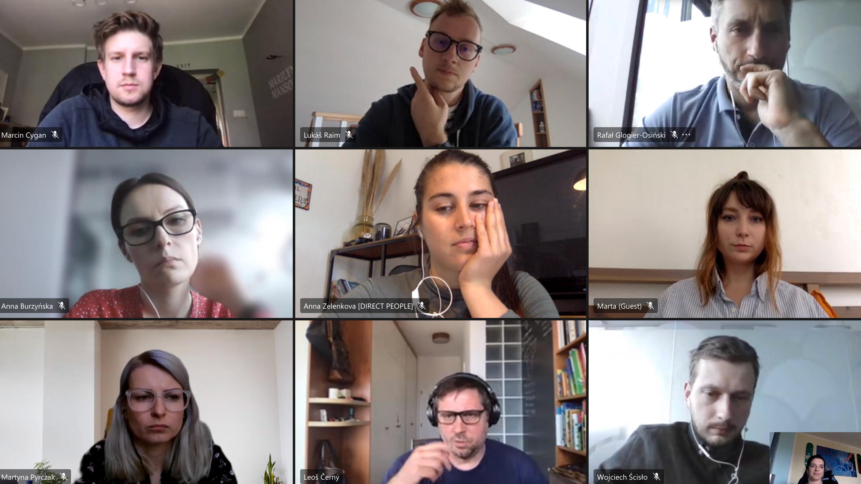 Wirtualne spotkania z zespołem w Czechach